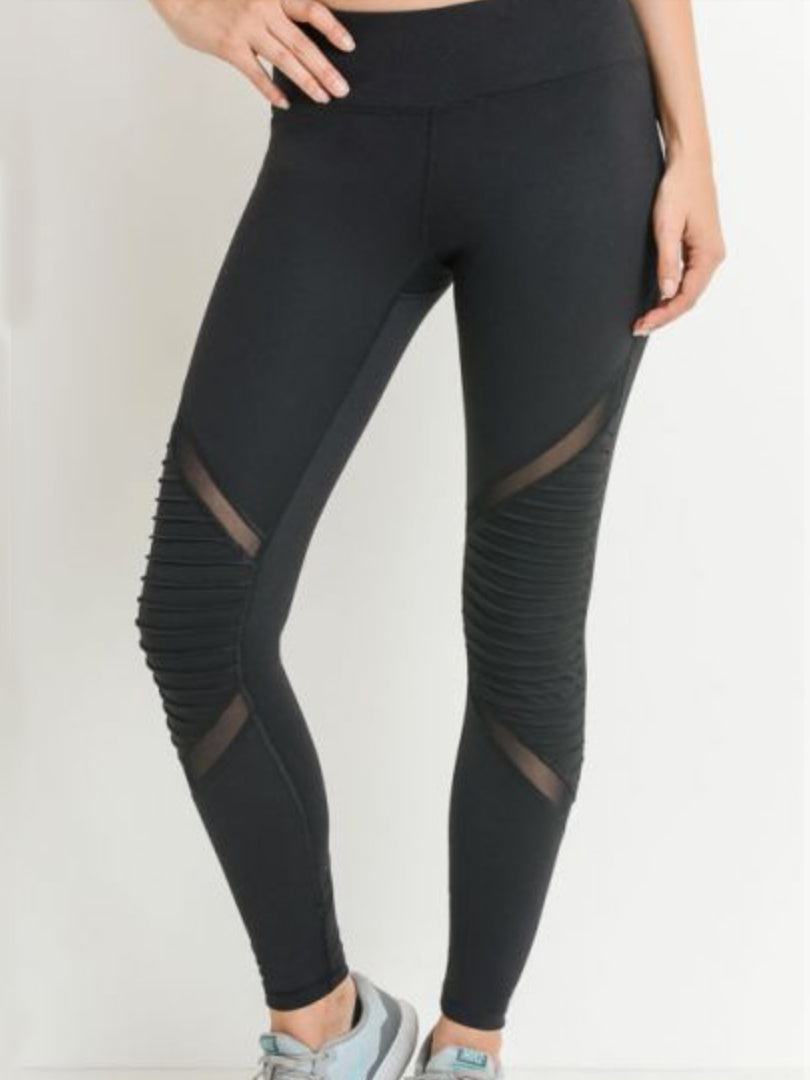 Jetsetter Mesh Leggings Black