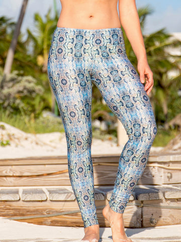 Sol Leggings Multicolor Snakeskin Mamba Print
