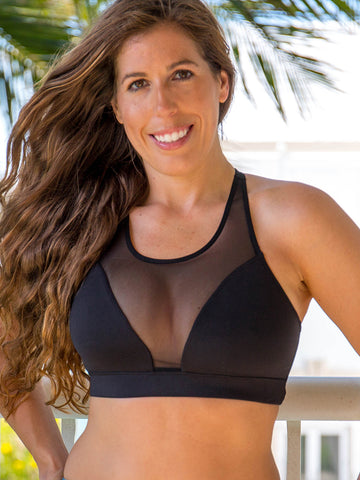 Voltage Mesh Sports Bra Panther Black