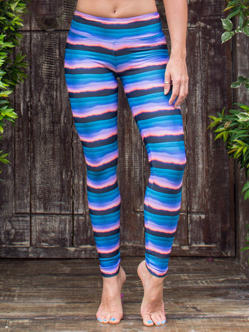 Sol Legging | Enchanted Print | Purple & Blue