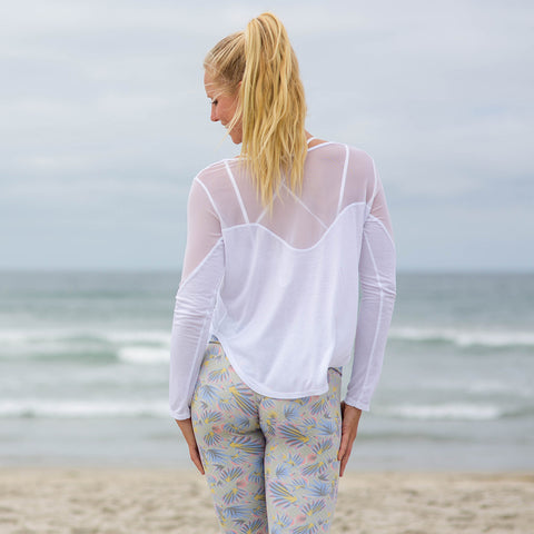 Gypsy Long Sleeve Top Cloud White