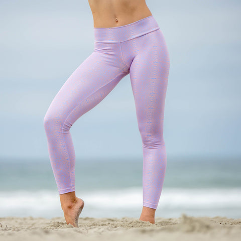 Baja Leggings Pink & Baby Blue Alpha Print