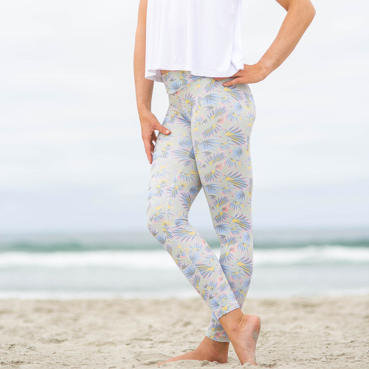 Baja Leggings Khaki Crusade Print