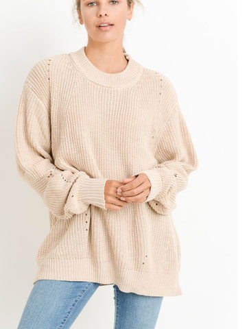 Oversize SoCo Sweater Coconut Cream
