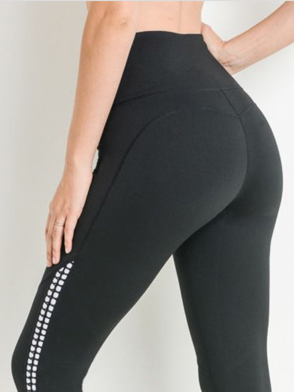 Tiffany Contrast Leggings Black & White