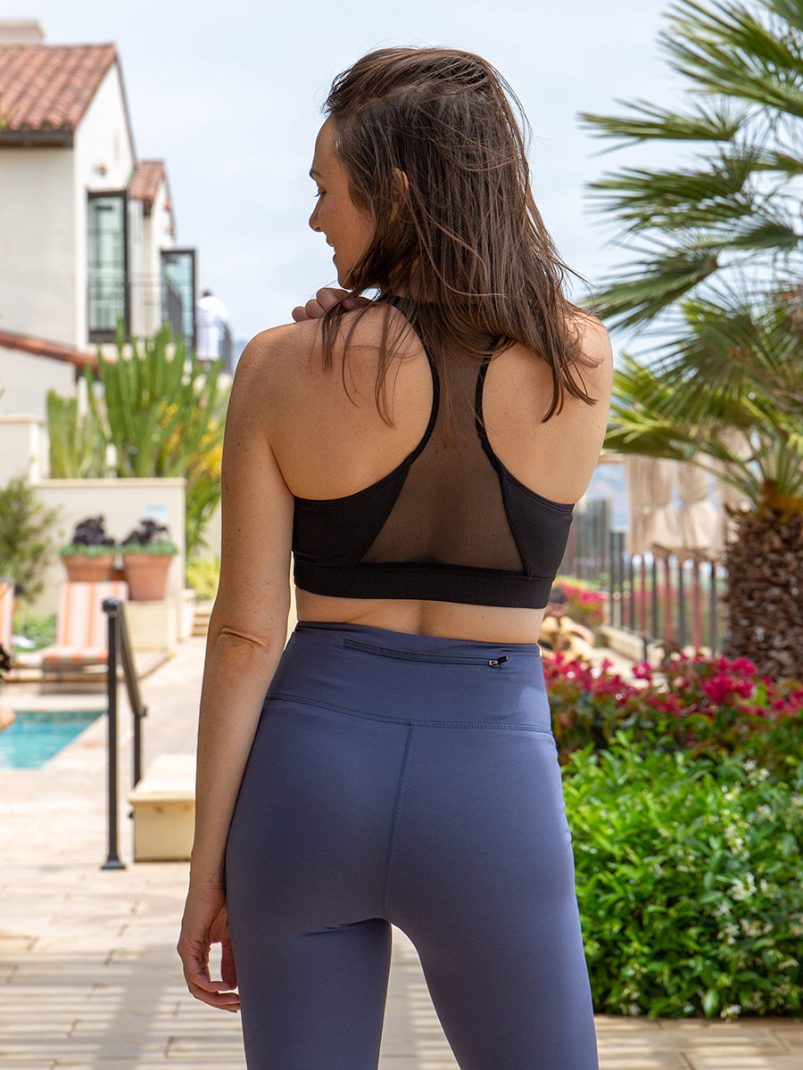 Promenade High Waisted Leggings Hamptons Blue