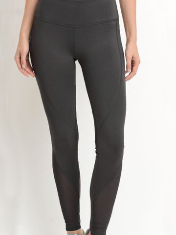 The Strand Mesh Leggings Black Licorice