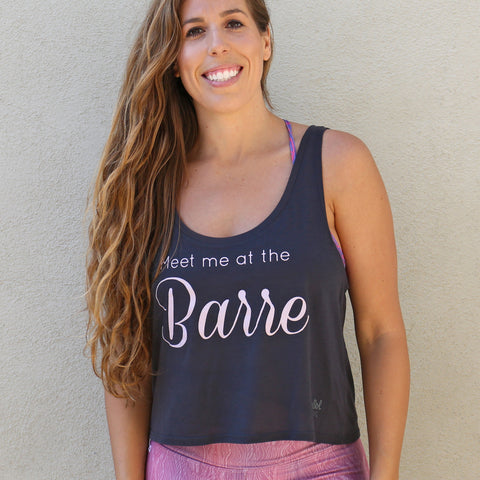 Barre Tank Charcoal Grey