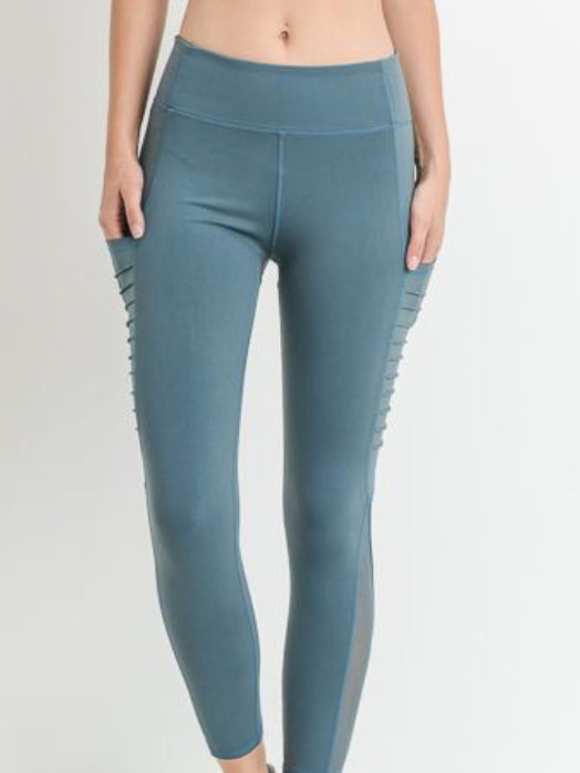 Austin Micro Crop Pocketed Leggings Rio Teal