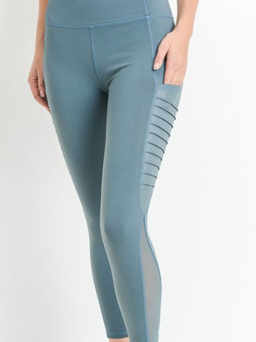 Venice Micro Crop Pocketed Leggings Rio Teal