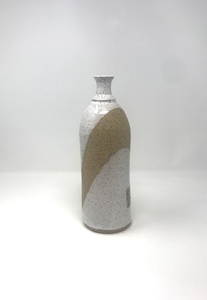 Hand Thrown Bottleneck Vase / White / one of a kind wheel thrown stoneware