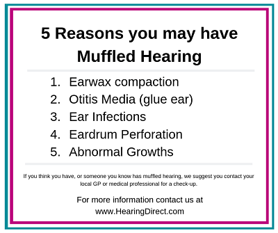 5 reasons you may have muffled hearing list of section headings