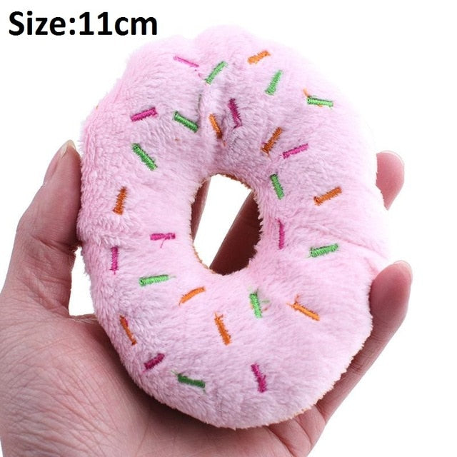 Sparkles Donut Chew Toy - Pink - Dog_Apparel