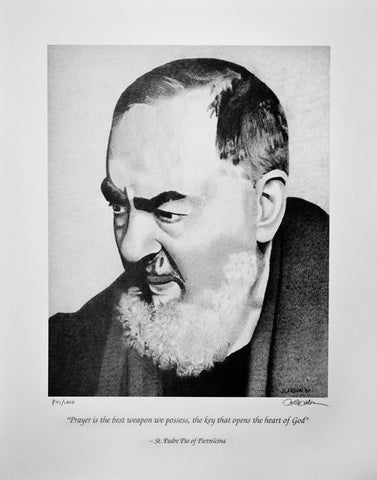 Padre Pio Limited Edition Print