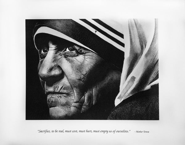 "11""x14"" Mother Teresa Limited Edition Print"