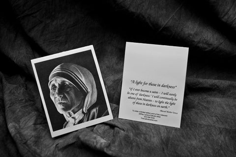 "Mother Teresa ""Light in Darkness"" note card pack"