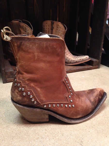 Liberty Black Delano Cotto Brown Stud Short Boots