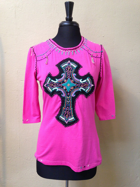 Pink Cross Top