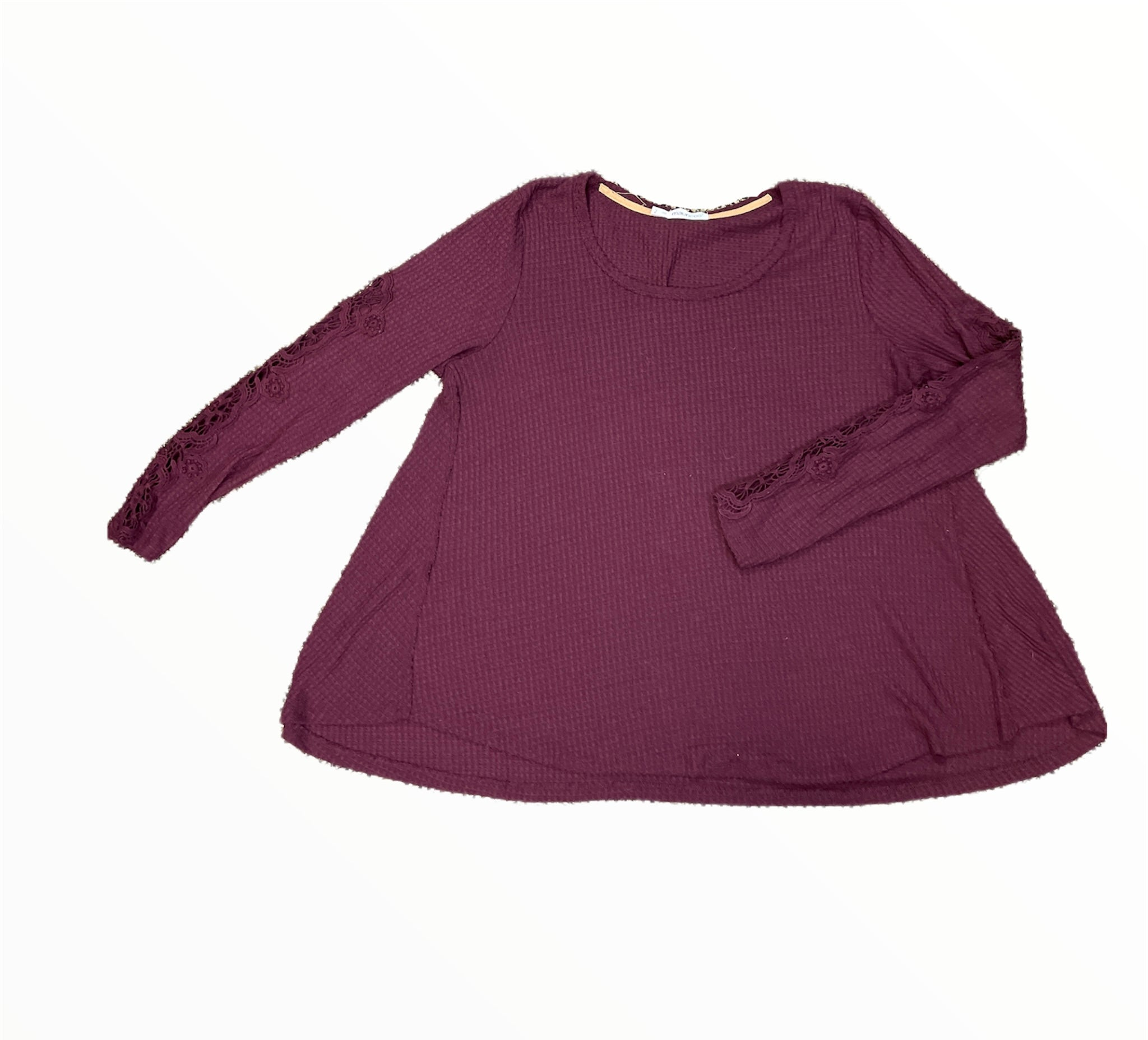 Primary Photo - BRAND: MAURICES <BR>STYLE: TOP LONG SLEEVE <BR>COLOR: MAROON <BR>SIZE: 2X <BR>SKU: 223-22361-21845