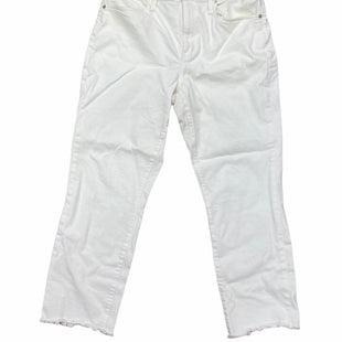 Primary Photo - BRAND: MADEWELL STYLE: JEANS COLOR: WHITE SIZE: 10 OTHER INFO: FRINGED SKU: 223-22343-20339