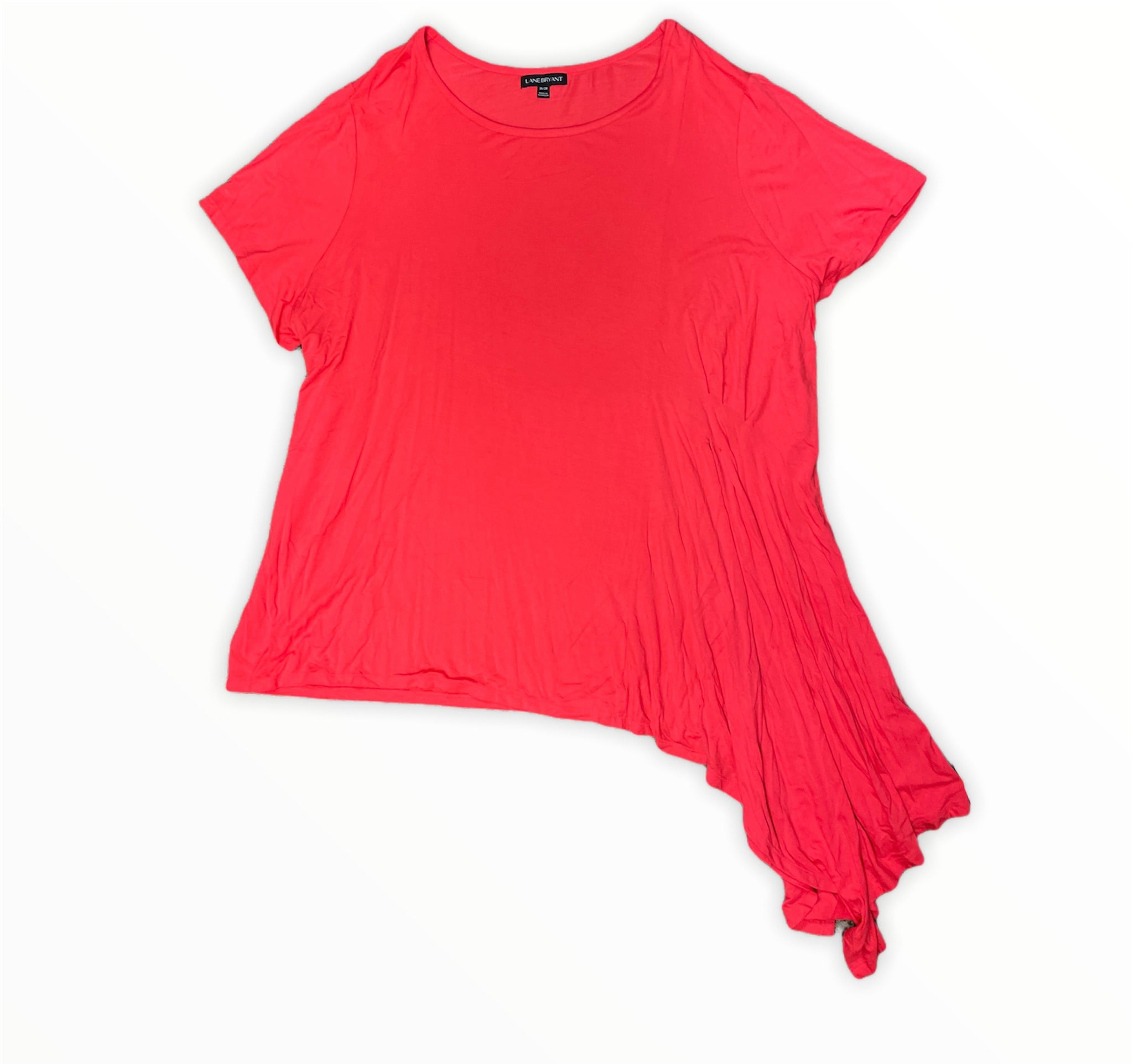 Primary Photo - BRAND: LANE BRYANT <BR>STYLE: TOP SHORT SLEEVE <BR>COLOR: RED <BR>SIZE: 4X <BR>SKU: 223-22364-41987