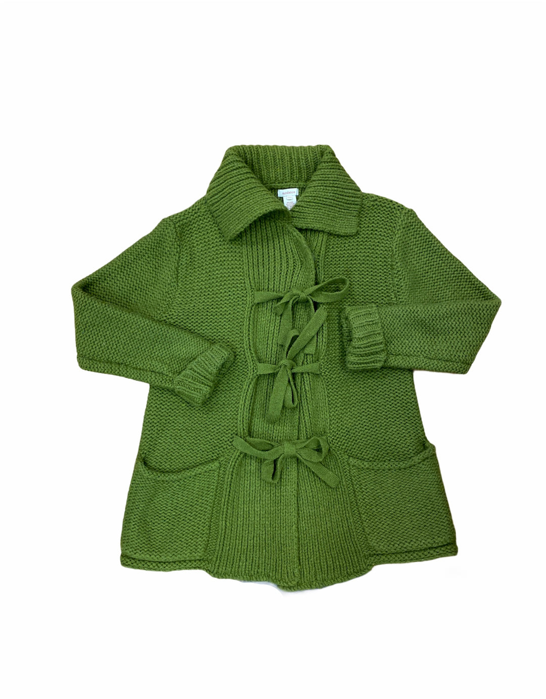 Primary Photo - BRAND: SUNDANCE <BR>STYLE: SWEATER CARDIGAN HEAVYWEIGHT <BR>COLOR: GREEN <BR>SIZE: PETITE  MEDIUM <BR>SKU: 223-22318-117626
