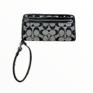 Primary Photo - BRAND: COACH STYLE: WALLET COLOR: BLACK SIZE: LARGE OTHER INFO: PATENT/FABRIC/WRISTLET SKU: 223-22318-119602