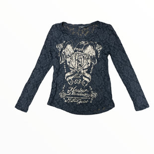 Primary Photo - BRAND: HARLEY DAVIDSON STYLE: TOP LONG SLEEVE COLOR: MULTI SIZE: M OTHER INFO: DRK GRY/BGE LACE SKU: 223-22343-22643