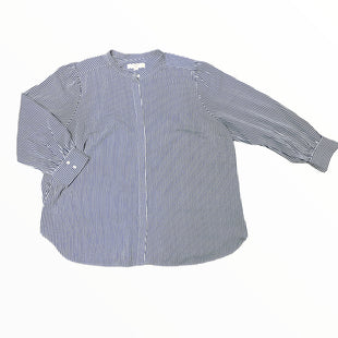 Primary Photo - BRAND: ANN TAYLOR LOFT STYLE: TOP LONG SLEEVE COLOR: WHITE BLUE SIZE: 3X SKU: 223-22318-123061