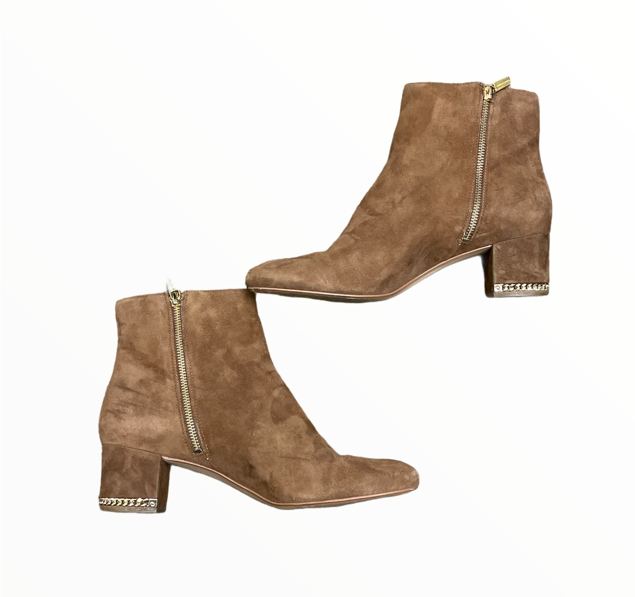 Photo #2 - BRAND: MICHAEL KORS <BR>STYLE: BOOTS ANKLE <BR>COLOR: CAMEL <BR>SIZE: 11 <BR>SKU: 223-22364-43323