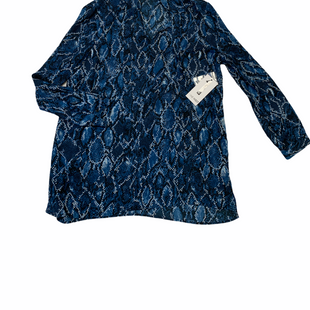 Primary Photo - BRAND: NINE WEST APPAREL STYLE: TOP LONG SLEEVE COLOR: BLUE WHITE SIZE: XL OTHER INFO: SNAKESKIN PRINT SKU: 223-22318-118612