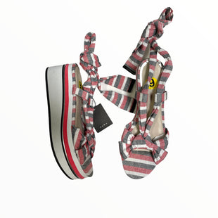 Primary Photo - BRAND: ZARA BASIC STYLE: SANDALS HIGH COLOR: RED BLACK SIZE: 9 OTHER INFO: WHITE/PLATFORM SKU: 223-22318-121521