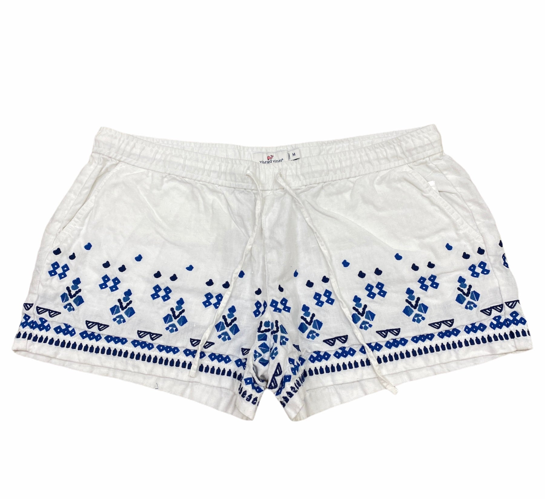 Primary Photo - BRAND: VINEYARD VINES <BR>STYLE: SHORTS <BR>COLOR: WHITE BLUE <BR>SIZE: M <BR>SKU: 223-22318-117772