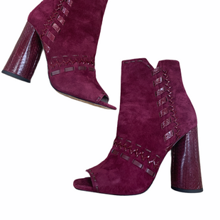 Primary Photo - BRAND: DONALD PLINER STYLE: SHOES HIGH HEEL COLOR: MAROON SIZE: 9 OTHER INFO: CURRANT KIDSUEDE SKU: 223-22364-39949