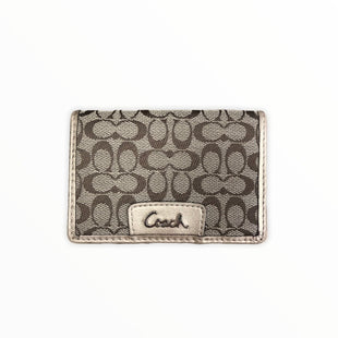 Primary Photo - BRAND: COACH STYLE: WALLET COLOR: MONOGRAM SIZE: SMALL OTHER INFO: GOLD/CARD HOLDER SKU: 223-22318-113994