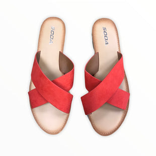 Primary Photo - BRAND: SODA STYLE: SANDALS FLATCOLOR: RED SIZE: 11 SKU: 223-22396-1749
