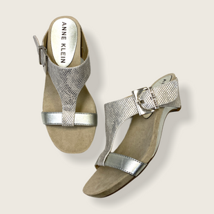 Primary Photo - BRAND: ANNE KLEIN STYLE: SANDALS LOW COLOR: SILVER SIZE: 6 SKU: 223-22370-12176