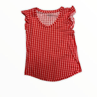 Primary Photo - BRAND: LOFT STYLE: TOP SHORT SLEEVE COLOR: RED SIZE: XS OTHER INFO: CHECKERED SKU: 223-22364-41907