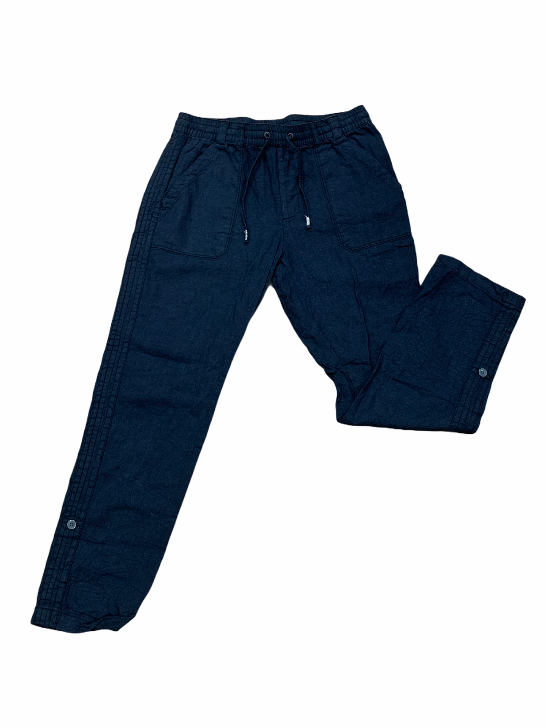 Primary Photo - BRAND: ANTHROPOLOGIE <BR>STYLE: PANTS <BR>COLOR: NAVY <BR>SIZE: M <BR>OTHER INFO: LINEN <BR>SKU: 223-22318-117775