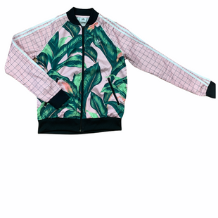 Primary Photo - BRAND: ADIDAS STYLE: ATHLETIC JACKET COLOR: FLORAL SIZE: S OTHER INFO: PINK/GREEN SKU: 223-22318-118185