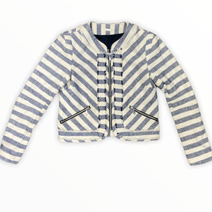 Primary Photo - BRAND: REBECCA MINKOFF STYLE: JACKET OUTDOOR COLOR: WHITE BLUE SIZE: XS SKU: 223-22318-122955