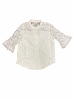 Primary Photo - BRAND:   MOLLY BRACKEN<BR>STYLE: TOP SHORT SLEEVE <BR>COLOR: WHITE <BR>SIZE: S <BR>OTHER INFO: MOLLY BRACKEN - <BR>SKU: 223-22343-21493