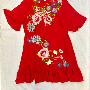 Primary Photo - BRAND: ASOS STYLE: DRESS SHORT SHORT SLEEVE COLOR: RED SIZE: 14 OTHER INFO: FLORAL SKU: 223-22371-8351