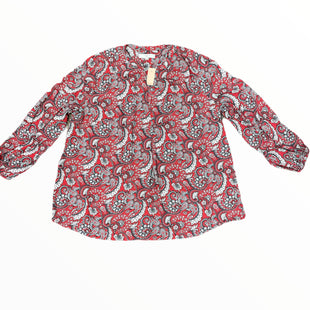 Primary Photo - BRAND: ANN TAYLOR LOFT STYLE: TOP LONG SLEEVE COLOR: RED GREY SIZE: 2X SKU: 223-22318-123066PAISLEY SIZE 20