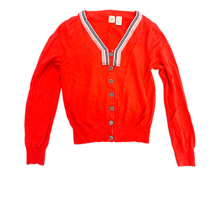 Primary Photo - BRAND: ANTHROPOLOGIE STYLE: SWEATER CARDIGAN LIGHTWEIGHT COLOR: RED WHITE BLUE SIZE: L SKU: 223-22318-107487