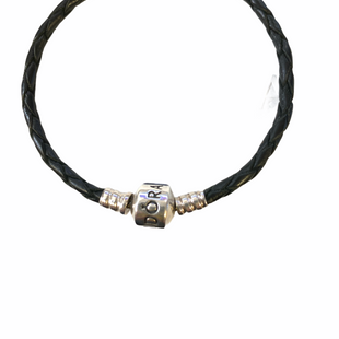 Primary Photo - BRAND: PANDORA STYLE: BRACELET COLOR: BLACK SILVER OTHER INFO: BRAIDED LEATHER SKU: 223-22318-123718