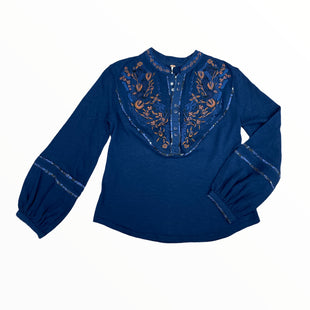 Primary Photo - BRAND: FREE PEOPLE STYLE: TOP LONG SLEEVE COLOR: NAVY SIZE: XS SKU: 223-22318-118722