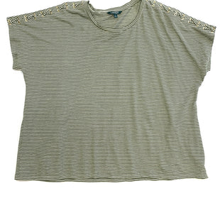 Primary Photo - BRAND: RALPH LAUREN STYLE: TOP SHORT SLEEVE COLOR: STRIPED SIZE: 3X OTHER INFO: OLIVE/WHT SKU: 223-22343-11669