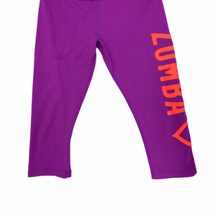 Primary Photo - BRAND: ZUMBA STYLE: ATHLETIC CAPRIS COLOR: PURPLE SIZE: L SKU: 223-22318-117585