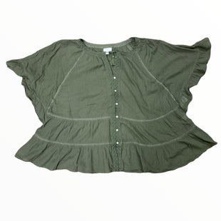 Primary Photo - BRAND: J JILL STYLE: TOP SHORT SLEEVE COLOR: OLIVE SIZE: 3X SKU: 223-22318-123055